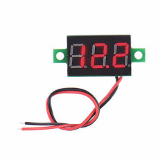 0.28 inch 3.5-30V Two Wire DC Voltmeter Red