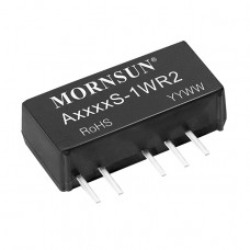 A1212S-1WR2 Mornsun 12V to ±12V DC-DC Converter 1W Power Supply Module - Ultra Compact SIP Package