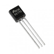 BS170 MOSFET - 60V 500mA N-Channel Small Signal MOSFET TO-92 Package