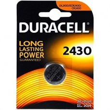 Duracell DL2430 (CR2430) 3V 285mAh Lithium Coin Cell Battery