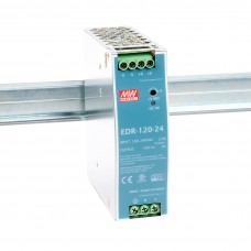 EDR-120-24 Mean well SMPS - 24V 5A 120W Din Rail Metal Power Supply
